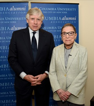 Photo of President Bollinger and Justice Ginsburg