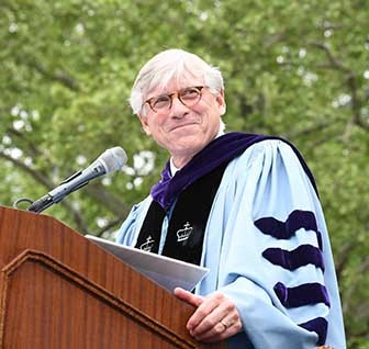 Photo of President Bollinger at Commencement
