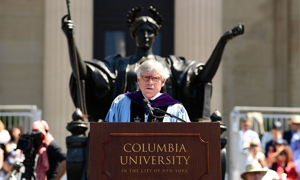 President Bollinger speaks at Commencement