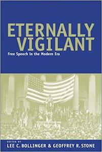 "Image of the cover of President Bollinger's book, ""Eternally Vigilant."""