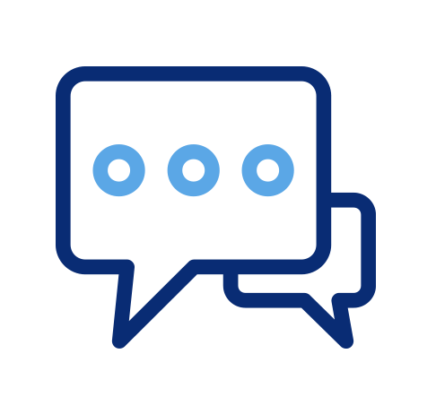 Icon of speech bubbles from text message