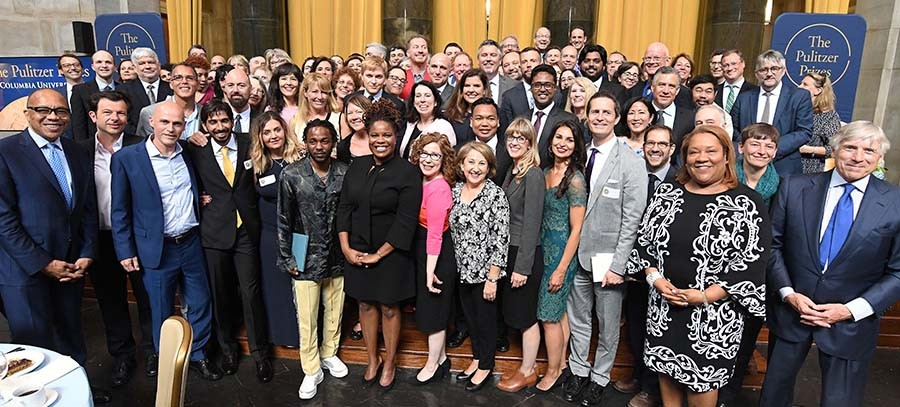 Photo of the 2018 Pulitzer Prize winners