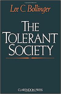 Tolerant Society by Lee C. Bollinger book cover.