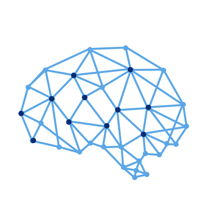 Icon of mapped brain